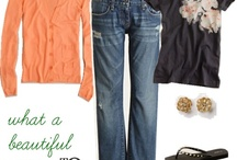 Fashion ~ Jeans (Coral & Turquoise)
