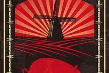 röd propagandastil