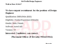 job offer DIPLOMA (EEE) interesting candidate apply for this job