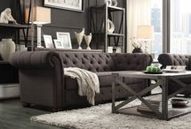 Chesterfield sofa livingroom