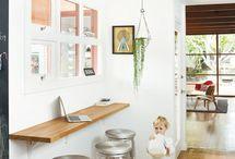 Shelf as bar/desk