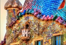 "Antonio Gaudi / Inspired and moved by Gaudi's master piece architecture in Barcelona, I want to be a ""Gaudi Gal"" and cover my mill in mosaics with a dragon atop like at Casa Batllo."