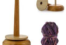 yarn - bowls , spindles