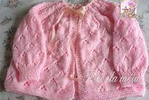 Casaquinho cor de rosa