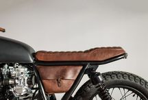 Sacoche cuir moto