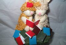 Book Bunnies - Cloth Dolls / These are fun little cloth dolls-bunnies who love to read.