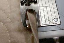 Machine stitch binding