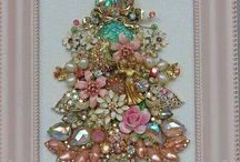 Christmas tree with costume jewelry