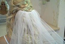 Inspiratie voor bruidskapsel met sluier