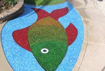 Exotic Glass in Landscaping projects / Ideas on how to use Exotic's line of Recycled Glass in your landscape and garden