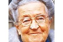 Research - Corrie Ten Boom / Photo research for a wig we are creating based on Corrie Ten Boom's hair. The wig is for a friend of Corrie Ten Boom's who does interpretation work as Corrie Ten Boom..