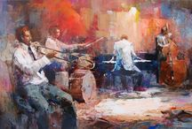 Willem Haenraets / Willem Haenraets paintings about dance and music