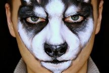 Wolves and Huskie Face Painting