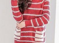 gestreifter roter Pullover