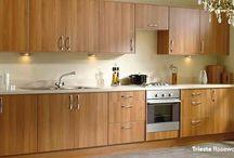 Trieste kitchen in rosewood