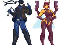 Superheroes original art