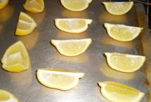 Love those LEMONS / Did you know you could freeze lemon slices? Neither did I.  Works great - if you don't get all the lemon off those stone counters try a paste of Baking Soda & Vinegar (an old tried but true - stain remedy) - equal amounts - worked terrific!  Nice way to keep your fresh lemons fresh! How to Freeze Lemons or Limes: http://www.food.com/recipe/how-to-freeze-lemons-or-limes-410387?soc=socialsharingtw … via @fooddotcom