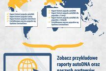 Moto Fakty / Zbiór grafik z informacjami o używanych samochodach i serwisie autoDNA.pl.
