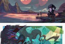 Background Environment Concept art