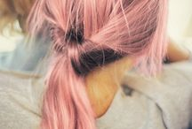 Pink Hairstyles and Colours / Pink on Blonde Hair Colours