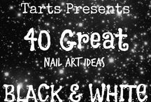 Crumpet Nail Tarts Presents - Black + White / Crumpet Nail Tarts Presents 40 Great Nail Art Ideas #40gnai