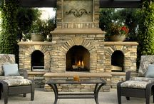 outdoor fireplaces / by Leslie Kilinski