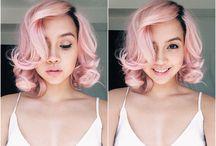 Strawberry ice hair / Tra i colori Pantone del 2015 spicca questo rosa freddo, ideale per aspettare la nuova primavera!