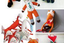 Fox plushies / Fox toys to sew - pillows, soft toys, masks etc.
