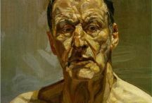 Art of Lucien Freud (1922-2011) German/English / Lucian Michael Freud was a German-born British painter. Known chiefly for his thickly impastoed portrait and figure paintings, he was widely considered the pre-eminent British artist of his time. His works are noted for their psychological penetration and their often discomforting examination of the relationship between artist and model.