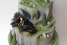 Торты с драконами