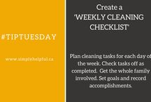 #TipTuesday / A variety of household tips posted on a regular basis on Tuesday. These 'Tip of the Day' pins run the gamut from organization and time management to cooking and been environmentally friendly.