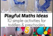 Math Activities / Pre-math and beginning Math activities for preschoolers