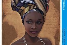 African lady.. paintings