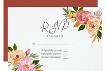 Spring Wedding watercolor flowers suite 2 / Customizable to your event specifications.