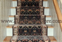 Straight Stair Runner Installation Photos / A straight staircase is certainly the simplest style we encounter. We are known for the the work that John does on complicated hall and stair runner installations, but it is important to have your stair runner installed properly - so why not have it installed by an expert? We are happy to offer the same personal shop at home service to our customers with a straight staircase as to those who need a more complicated installation. www.StairRunnerStore.com