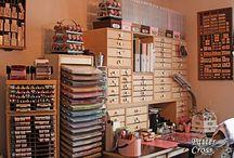 craft/sewing room / by Debbie Supnet
