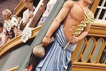 het boegbeeld van de repilia v.o.c. schip  Amsterdam