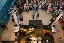 """Blanton B Scene: Blue Hawaii / June 20, 2014 at Blanton Museum of Art in Austin, Texas. Photography by """"Photos by Lisa Hause"""" / Music by Dale Watson / Lighting and audio by Atomic Picnic"""