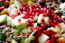 Pear, pomegranate Apple salad