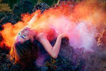 Color dust/smoke