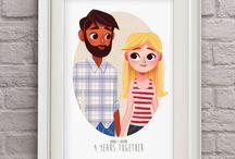 Famil Portraits illustrations