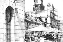 background sketches