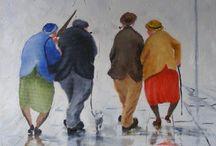 aquarel mensen