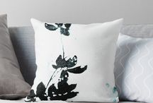 Krista McCurdy Art | Home Decor / My artwork on various items of home decor and accessories, such as pillows, wall tapestries, blankets, clocks, and mugs. Botanical prints, collage art, abstract art.