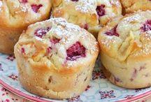 muffins pommes framboises