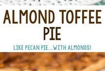 almond toffee pie
