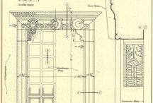 Architectural details drawings