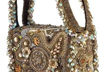 Beaded handbag, case, box