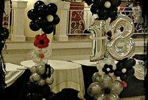 Birthday balloons / Birthday balloon decor Arrangements, ideas