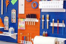 DIY & Craft Storage / DIY & Craft Storage & Organization with pegboard tool boards by Wall Control